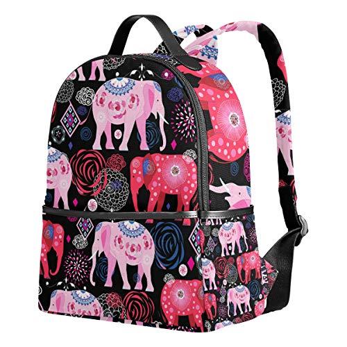 Ahomy - Mochilas para Colegio, diseño de Elefantes, Coloridas, con Flores, para...