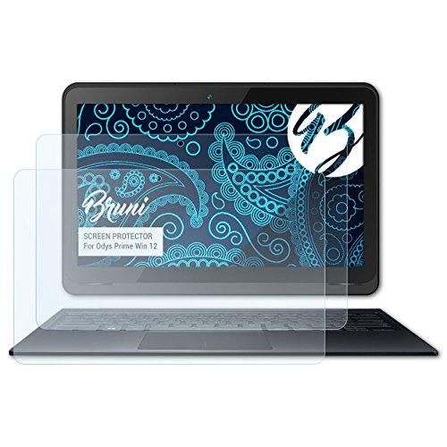 Bruni Schutzfolie kompatibel mit Odys Prime Win 12 Folie, glasklare Bildschirmschutzfolie (2X)