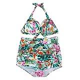 Ginli Bikini Costume da Bagno,Costumi da Bagno da Bagno Sexy con Stampa di Costumi da Bagno, Bikini da Spiaggia Imbottiti con Reggiseno Imbottito Push-up Costume da Bagno Donna
