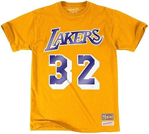 NBA Los Angeles Angeles Angeles Lakers Magic Johnson Player Name & Number Tee (Mitchell Ness&) B01EX37FKW Parent   Prezzo Affare    Bella Ed Affascinante Della    Un equilibrio tra robustezza e durezza    A Primo Posto Tra Prodotti Simili  baa909