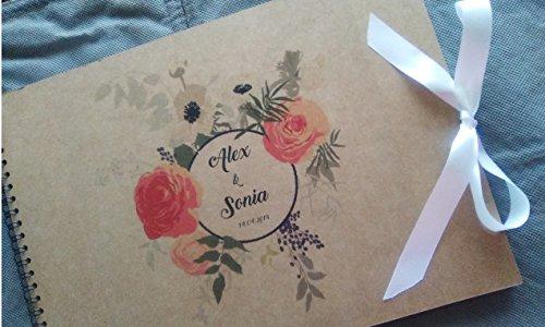 Libro de firmas para boda personalizado