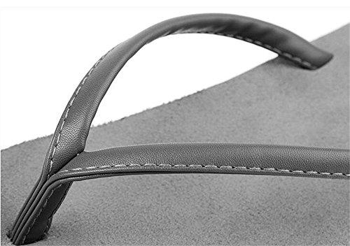 ALUK- Sandales d'été - Hommes Pieds Wear Wear Trend Simple Beach Cool Chaussons ( Couleur : Gray , taille : 42 ) Gray