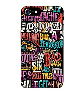 Fuson Designer Back Case Cover for Apple iPhone 7 (Nothing But A Heartache Theme)