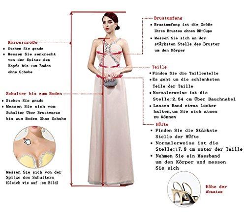 Aiyana A-Linie Chiffon Langes Rueckenfrei Kleid Rueckenfrei Schnuerung Abendkleid Spitze Brautkleid Burgund