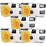 5 x PHOTO PORST mariage Caméra/Appareil photo jetable Crème rose (avec flash et piles, 27 Photos, ISO 400 Fuji chacune)