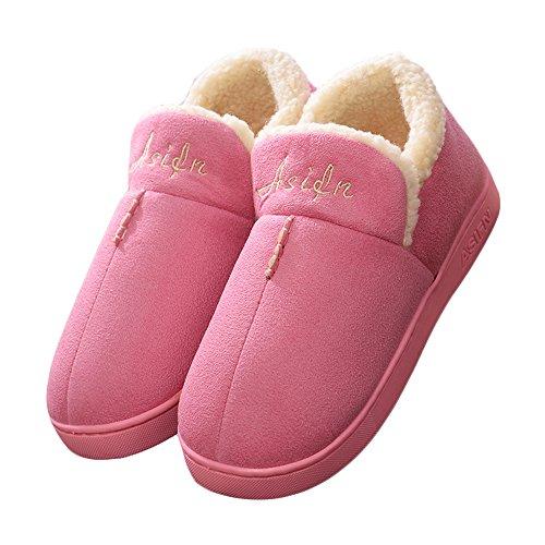 CUSTOME Automne Hiver unisex Pantoufles Coton Peluche Chaussons Doublure Intérieure Douce Mules Femme Homme Accueil Slippers Chaussures