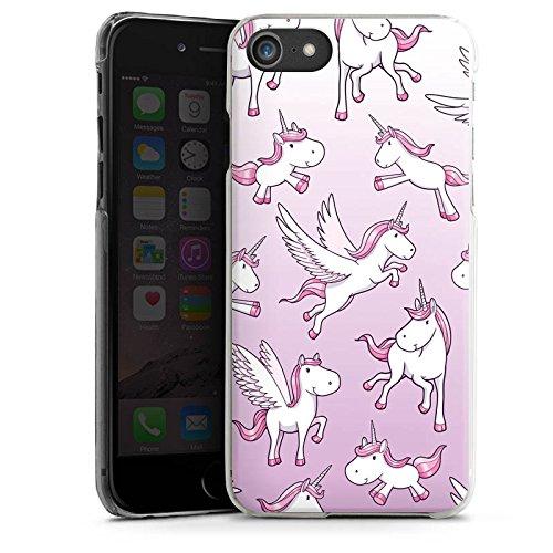 Apple iPhone X Silikon Hülle Case Schutzhülle Einhorn Unicorn Pferde Girls Hard Case transparent