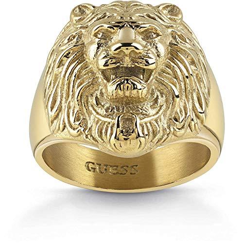 Guess Herren-Herrenring Edelstahl Kristall 62 Gold 32005674