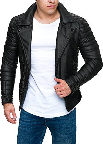 Reichstadt Herren Jacke -- RS001 black PU - black zipper S