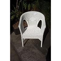 Sessel Stuhl NEU in der Farbe weiß Rattansessel