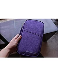 11colores Durable Impermeable Nailon Documento de viaje cartera