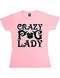 Fancy A Snuggle Crazy Pug Lady Woof Love Pugs Womens T-Shirt