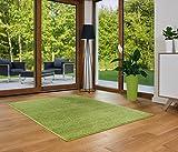 Designer Teppich Friese Einfarbig Modern Verschiedene Größen Grün (120x170)