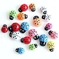 100pcs Mini 3D Ladybird Ladybug Wall Stickers Home Decor DIY