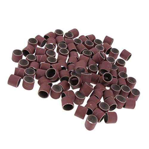Homyl 100Pcs Schleifbänder Schleifhülsen Werkzeug 120 Grits - 400Grits, 15mm * 13mm - 240#