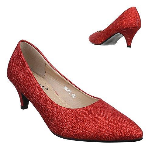 Ital-Design , Coupe fermées femme Rouge