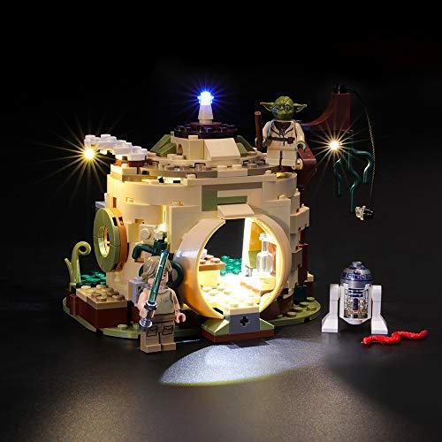 BRIKSMAX Kit de LED pour Lego Star Wars La hutte de Yoda,Compatible avec la Maquette Lego 75208, La Maquette de Construction n'est Pas Incluse
