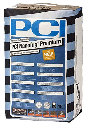 "PCI Nanofug Premium 15kg Flexfugenm\""rtel Nr. 22 Sandgrau"