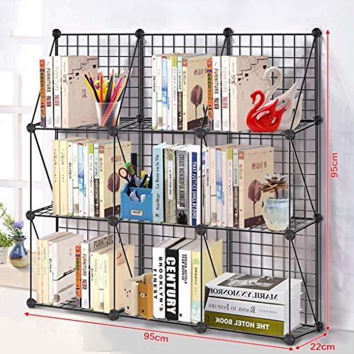LF Eisenregale mehrschichtiges Bücherregal, Schlafzimmer/Wohnzimmer / Badezimmer Boden stehende Küche Lagerregal 3 Schicht (größe : C) -