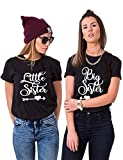 Couple Camp Best Friends T-Shirts Für Zwei Beste Freundin Tshirt Big Little Tshirt BFF Geschenke (Schwarz, Big-XL+Little-2XL)
