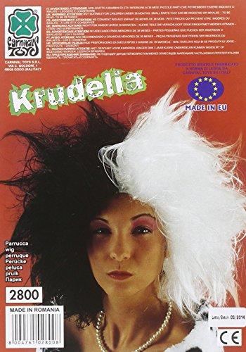 Carnival Toys 2800 - Perücke Cruella, (Cruella Perücke Schwarz Und Weiß)