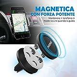 [2 Pezzi] Mpow Supporto Magnetico Auto Universale Supporto Auto Smartphone Porta Telefono per Tutti gli Smartphone e GPS, iPhone 7/6/6S, 5S 5, Galaxy S4 S5, Huawei P9, Nota 3, LG G3, Nexus 4/5, HTC , Motorola, Sony, ecc(Nero)