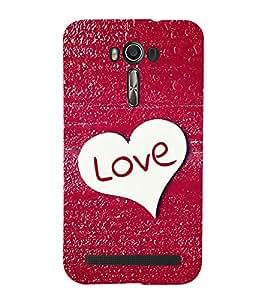 EPICCASE glittery love Mobile Back Case Cover For Asus Zenfone 2 (Designer Case)