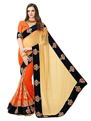 Koroshni Women Georgette Saree(KRO-RANG RASIYA ,Multi ,Free Size )  available at amazon for Rs.1099