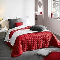 rouge dessus de lits et couvre lits linge de lit et oreillers cuisine maison. Black Bedroom Furniture Sets. Home Design Ideas
