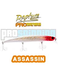 RAPTURE - ASSASSIN - Señuelo pesca - Spinning - COLOR HRH - HOLO RED HEAD
