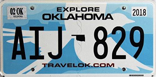 Oklahoma USA Nummernschild, Metallschild, License Plate