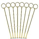 Surepromise 8 Sets Metallstange Gold Silber Mittellochausstech 2 bis 3 Etagere Etage f. Torten Hochzeitstorte Tortenständer (