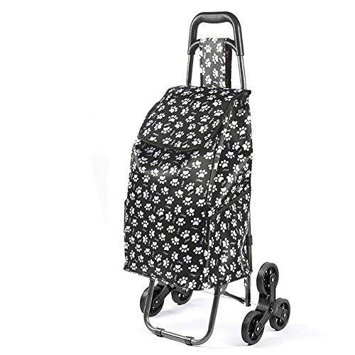 M&L Trolley Dolly Treppe Kletterer, Lebensmittelgeschäft Faltbare Cart Save Condo Wohnung mit Leichtigkeit - hält bis zu 100 Pfund (1 Pack) , A (Push Cart Für Lebensmittel)
