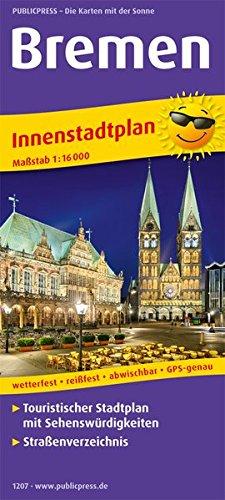 Bremen: Touristischer Innenstadtplan mit Sehenswürdigkeiten und Straßenverzeichnis. 1:16000 (Stadtplan / SP)