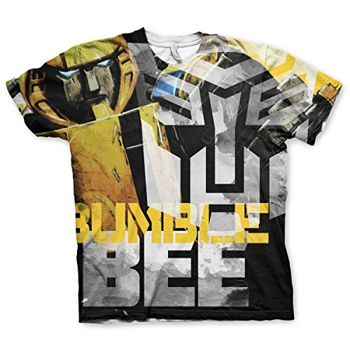 Merchandise Bumble Bee Allover Printed T-Shirt (Multicoloured), X-Large (Kid's Bumble Bee Hat)