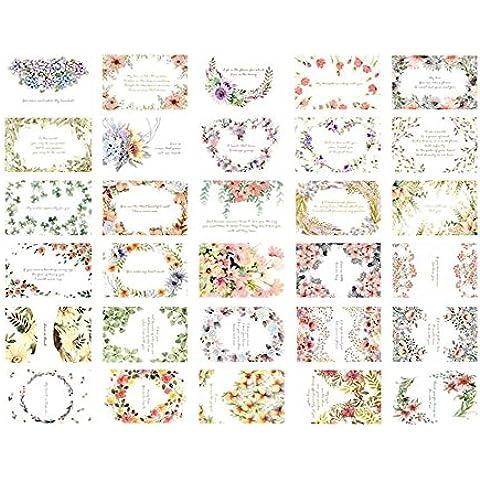 30 PCS de Colección Vintage Postales del tema hermoso de la flor