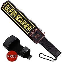 Valetin - Escáner de Seguridad de Mano con Detector de Metales con Soporte para Cinturón,