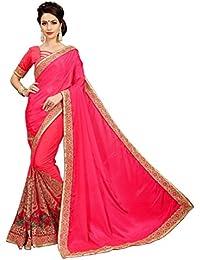 OSLC Rani Silk & Net Saree Women Party Wear Half Sarees Offer Designer Blouse Beautiful For Women Party Wear Sadi...