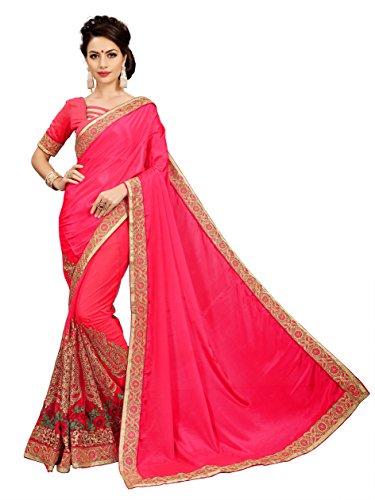 OSLC rani silk & net Saree Women Party Wear Half Sarees Offer...