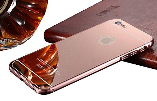 iPhone 6Coque de Luxe en Aluminium Ultra Slim Ultra Slim étui En Métal de haute qualité, argent, 139.1x67x6.9mm Roase Gold