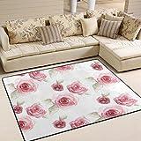 ingbags Super Weiche Modern Vintage Roses Flower, ein Wohnzimmer Teppiche Teppich Schlafzimmer Teppich für Kinder Play massiv Home Decorator Boden Teppich und Teppiche 160x 121,9cm, multi, 63 x 48 Inch