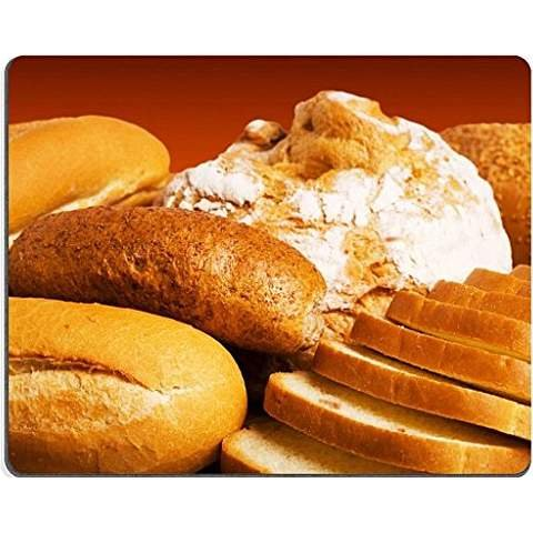 Loaf of bread isolated over white background mouse pad