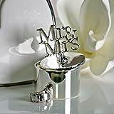 Ringdose Mr+Mrs Metall verchromt H7cm