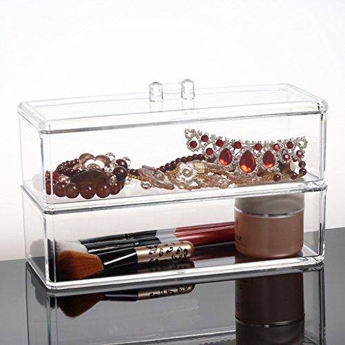 Contenitori cosmetici scatole per cosmetici mensole per cosmetici supporto per organizer per gioielli e trucco rotante scatola di immagazzinaggio per cosmetici multifunzionale regolabile a 360 gradi con grande capacità per scatole contenitori per cosmetici acrilici ( Size : D )