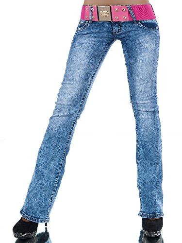 l530-damen-jeans-hose-hufthose-damenjeans-huftjeans-bootcut-schlag-schlaghose-farbenblaugrossen38-m