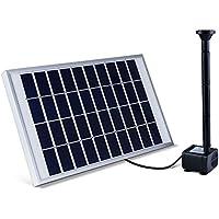 LUXJET Bomba de Agua Solar,5W Pump solar de la fuente para Estanque, Pozo, Jardín, Piscina,Flujo máximo 380L/h