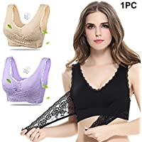 71cf6751c1 ZAK168 Super Comfort Bra Women Girls Sexy Cross Side Buckle Gather Lace Bra  Seamless Anti-