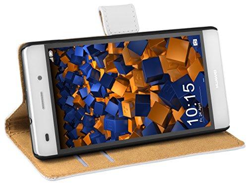 mumbi Tasche im Bookstyle für Huawei P8 Lite Tasche weiss (nicht für das P8 Lite Smart)