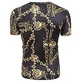 UINGKID Herren T-Shirt Slim-Fit Easy Business Kurzarm Unterhemd Lustige 3D Muskel-Druck-Fitness-elastische Kurzarm-T-Shirt-Spitzenbluse der Männer