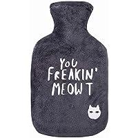Willsky Heißwasser-Flasche, Heißwasser-Tasche Mit Deckel-Abstraktem Katzen-Muster-Weichem Plüsch-Abdeckungs-Warmem... preisvergleich bei billige-tabletten.eu